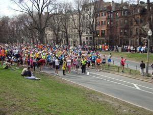Boston Marathon Commonwealth Ave