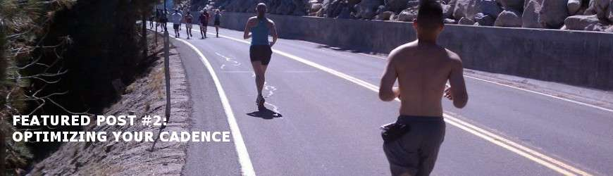 how to optimize your running cadence