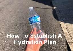 Hydration for marathons