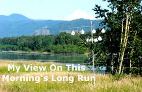 View of Mt Hood on long run
