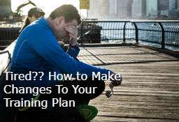 How to make changes to your marathon plan