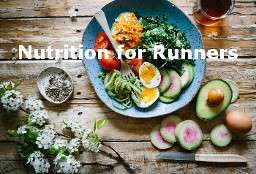 Nutrition for marathon training