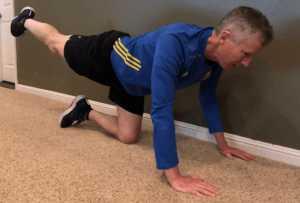 Donkey Kicks for Glute Strengthening