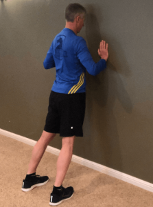 Wall Press for Shin Splints