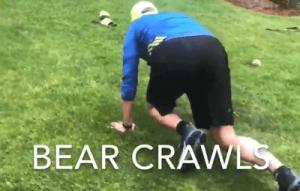 Bear crawls for runners